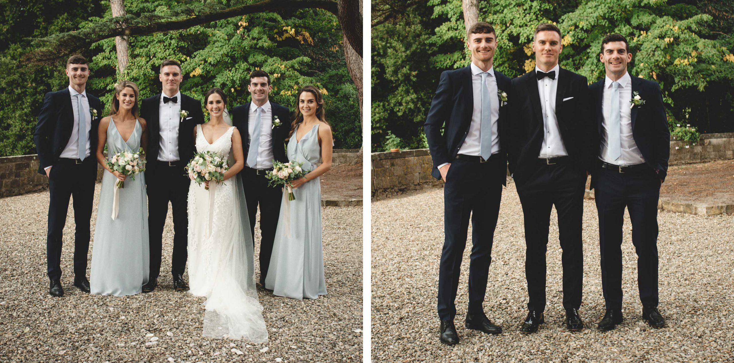 Bridesmaid and Groomsmaen at Castello Il Palagio