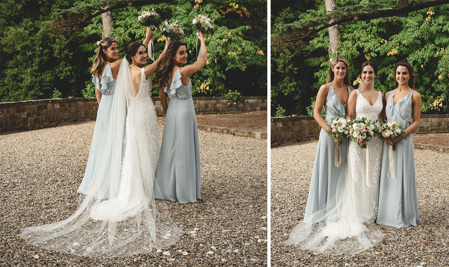 Bridesmaid at Castello Il Palagio