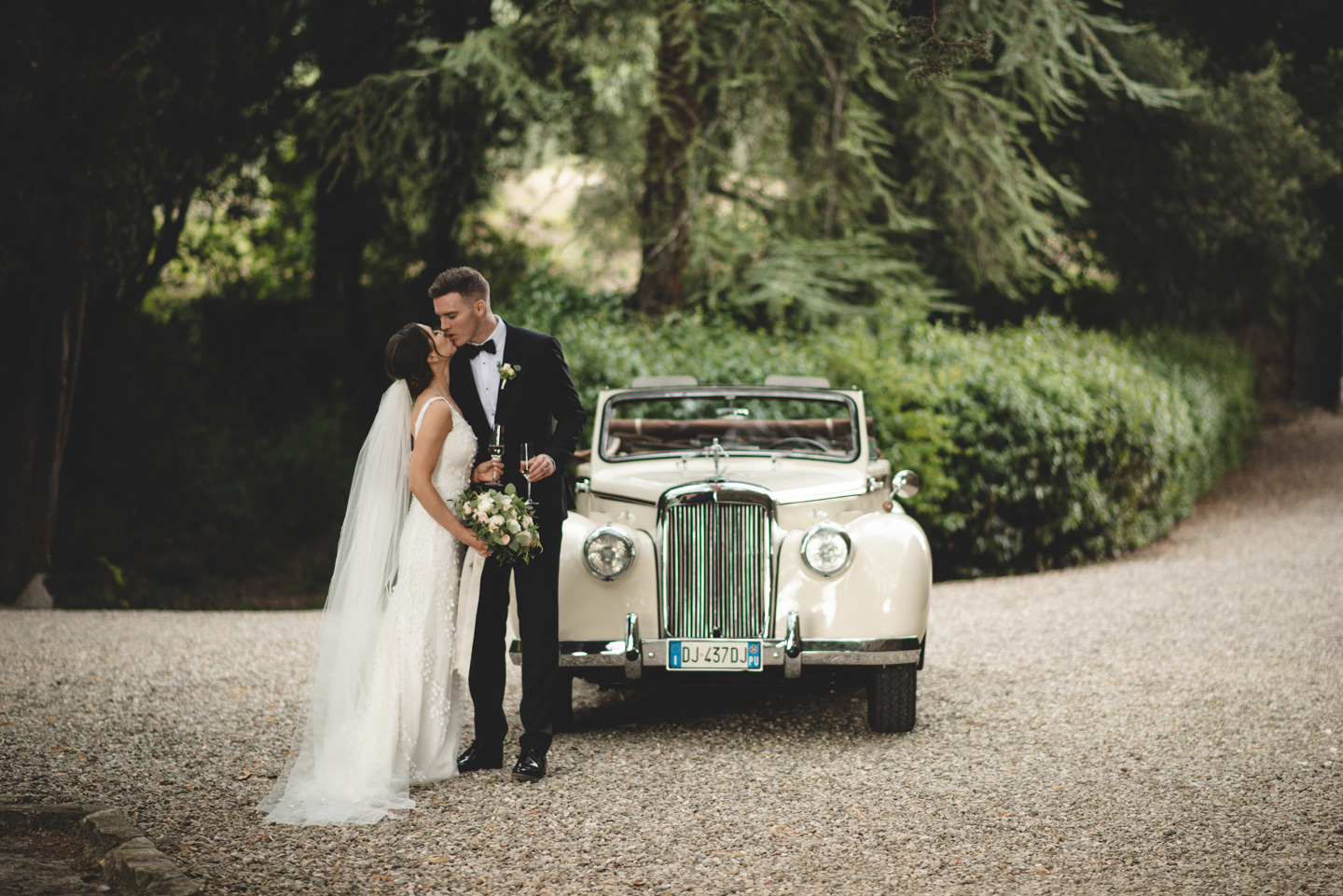 Wedding Car at Castello Il Palagio